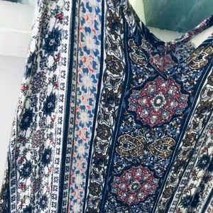KNOX ROSE PATTERNED MAXI DRESS XL